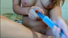 Fisting self Monster Dildo play tinny part.1