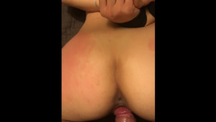 My bf teases me and slides his thick cock in my wet, tight pussy