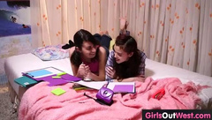 Young Sleepover Turns To Lesbian Act 18auditions, zindowan
