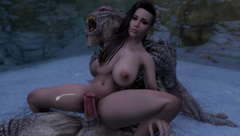 Sexy Skyrim- Vampire tries to command a Frost Troll. Gets dominated.(part1)