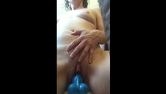 cumming over & over riding my dildo on the tub... didn't ever want to stop!