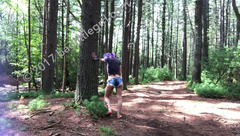 Badlittlegrrl -  mid hike masturbation