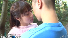 Jav college girl outdoor blowjob to her bf