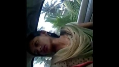 Outdoor daring by desi babes - couples flashing
