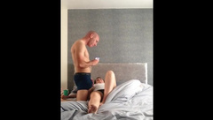 Hot wife woke up to a hard fuck and has her mans cum for breakfast