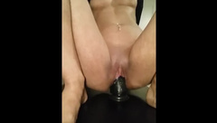 Riding my dildo to creamy end must to watch