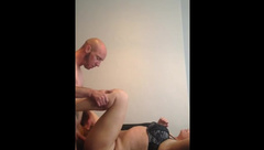 Horny couple morning fuck giving her that wood she deserves