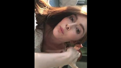 Jia Lissa getting horny before the scene (Backstage)