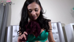 Ariana Marie uses her panties to finish the job