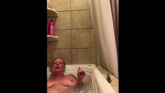 MILF getting off in Jacuzzi.