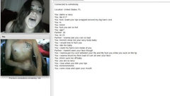 Horny girl home alone on Omegle