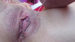 My dripping wet big clit pussy after huge orgasm