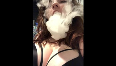 Vaping MILF smoking fetish