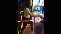 arcade video game nerdy asian tiny teen deepthroat and creampie
