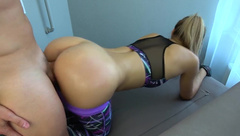 CarryLight - Step brother grinding and cums on yoga pants step sister while working out private premium video