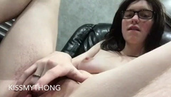 Wet MILF strips, lactates, shows off ass and fingers herself compilation