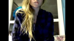 Hot blonde with big tits plays the omegle game