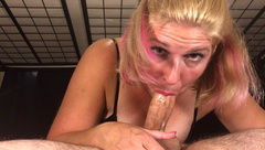 69 eye contact blowjob with sexy slutty MILF- Oral Creampie - Swallow