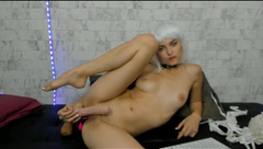 angelic elf plays with hot pussy