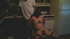 Petite brunette tied up and tortured