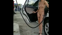 Pumping Gas Naked in Public