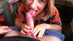 Escort milf with perfect boobs wild fuck and gets a huge facial cumshot pov