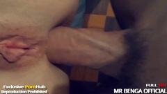 Babe young girl shaving pussy hairy and anal sex + pussy creampie