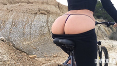 Creampie on the bicycle with my boyfriend — Sweet DiaBob69
