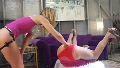 young blonde strapon sissy in asshole