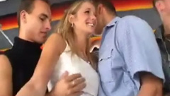 Hot Blonde groped in bus