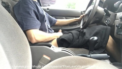 First outdoor vid; jerking in public while driving, almost caught