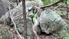 BTS Nude Outdoor Photoshoot With Slime