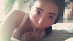 19 year old asian girlfriend sucks cock passionately