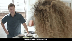FamilyStrokes - Curly Haired Ebony Teen Gets Pounded By Her Stepbro