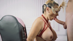 PULSATING ORAL CREAMPIE - NO HANDS - THROBBING CUM IN MOUTH - BIG TITS MILF