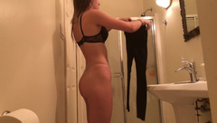 Bubble Butt Teen Caught in bathroom - Many more of her on my profile
