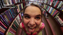 PavlovsWhore - HDPOV A risky facial in the bookstore in private premium video