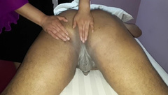 sissy get milking&spanking masage from chaines lady in masage center