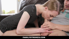 FamilyStrokes - Cute Step Sis Fucks Her Way Out Of Trouble