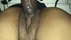 Eating pussy and creamy backshots