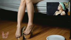 Lani B : Stressed Out Wife Smokes Cigarette After Long Day In Heels