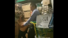 Old store manager fucking young Turkish teen in warehouse part 2.