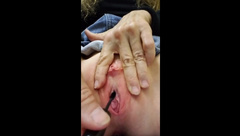 Requested, Brutal urethra torture with mascara brush, sh, in dressing room!
