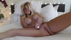 Perfect Milf with Huge TIts Dildo Orgasm and Dildo Sucking - RARE