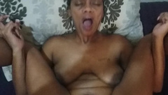 Cute Ebony Fucks for a Quick Creampie