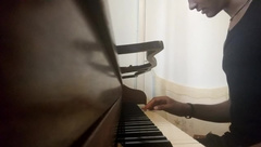 BBC Pianist Strips and Jerks off and Cums