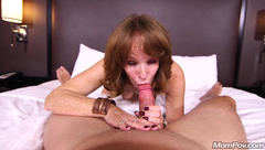 Mommy Plays With Hard Cock