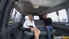 Gorgeous Blonde Fucked On The Bang Bus