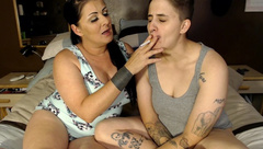 Roleplay Taboo Mommy StepDaughter Kissing Smoking