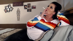 Cigarette Smoking Lesbian Long Haired MILF